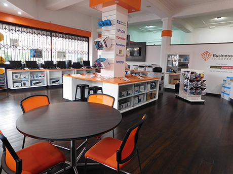Business Works' IT services showroom