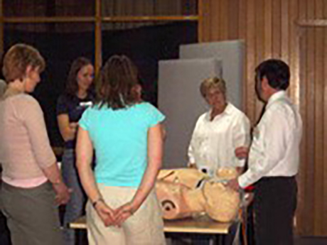 Critical Care trainer delivering professional development course