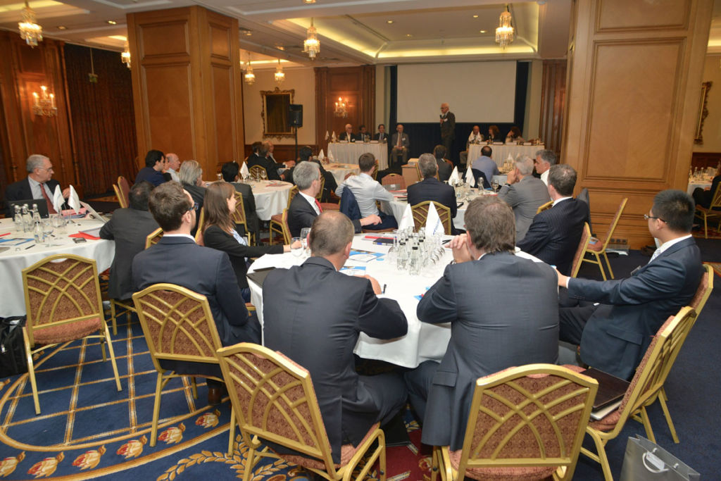 Members of M&A Worldwide watching a presentation at the Istanbul conference