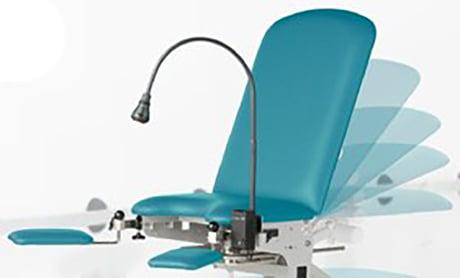 Adjustable back examination chair