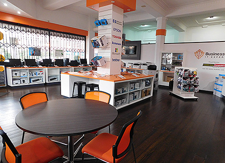 Business Work's IT services showroom