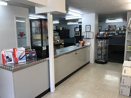 Edington's customer reception area