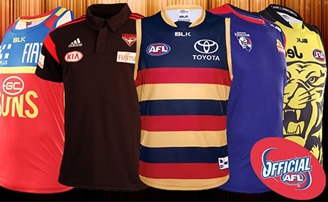 Examples of MSO's merchandised AFL products