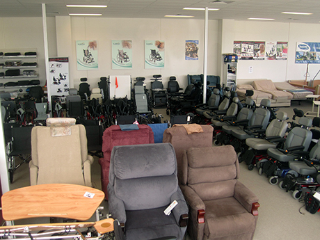 Mobility Aids' display showroom