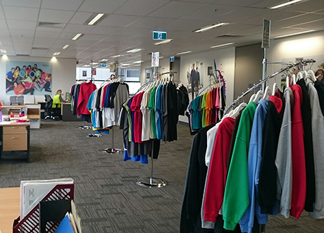 Superior Activewear's admin & showroom area