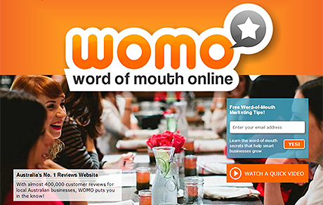 WOMO promotional shot showing people interacting