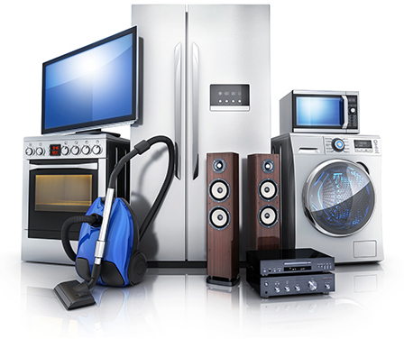 Mix of home and electronic appliances