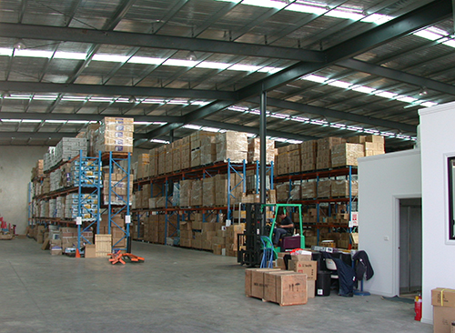 Tradequip's warehouse facilities and dispatch office
